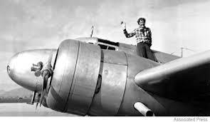 amelia earhart flying
