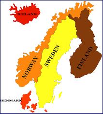 world map scandinavia