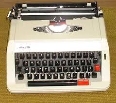 olivetti typewriters
