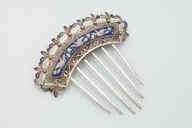 silver hair combs