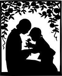 mother and child cartoon