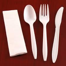 white cutlery