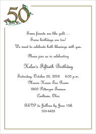 invitation 50th birthday