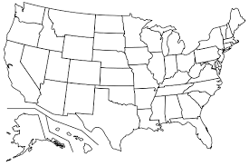 blank eastern us map