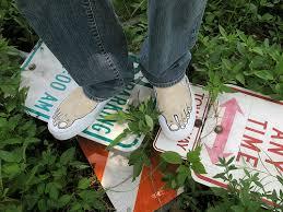 barefoot sneaker