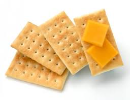 cheese on crackers