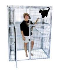 outside cat cages