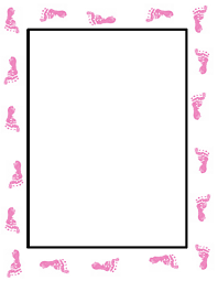 baby shower footprint
