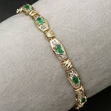 emerald diamond bracelets