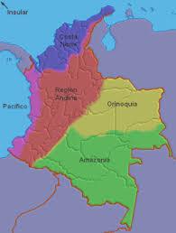 mapa de las regiones de colombia