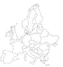 konturowa mapa europy