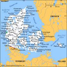 denmark map europe