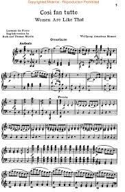 sheet music mozart
