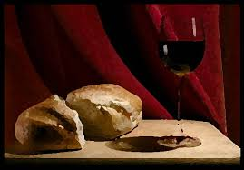 holy communion bread and wine