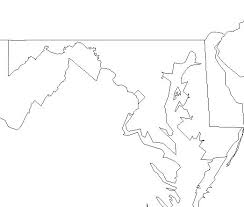 blank map of maryland
