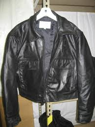 leather police jacket