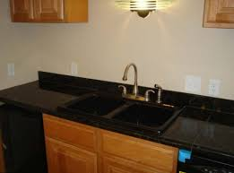 black granite tile countertops