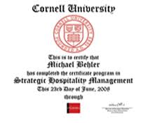 cornell certificate