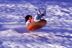snow inner tubing