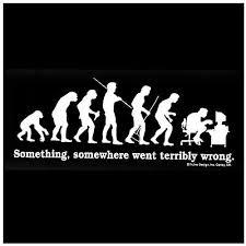 evolution of man t shirt