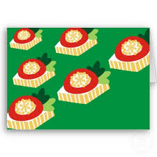 christmas canape