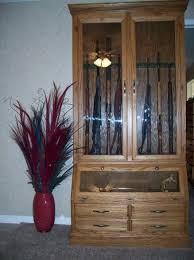 oak gun cabinets