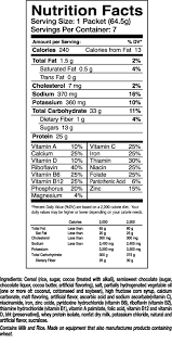 nutritional cereal