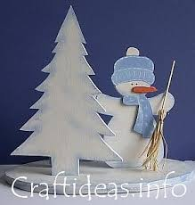 snowman centerpieces
