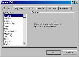 menu formatting