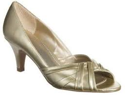 cute gold shoes