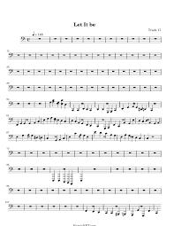 let it be sheet music