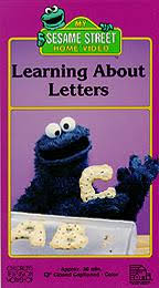 sesame street learning about letters vhs