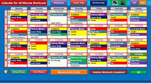 10 minute trainer schedule