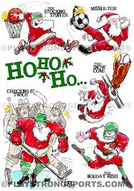 sports christmas cards