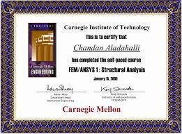 mechanical engineering certificate