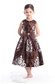 chocolate flower girl dress