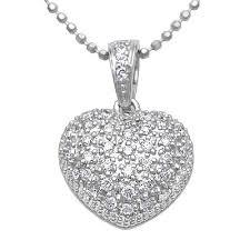 heart diamond necklaces