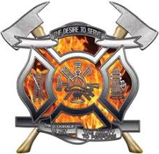 fire fighter decals