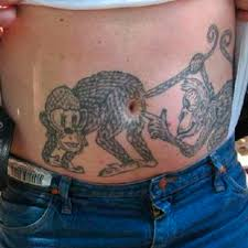 crazy monkey tattoo