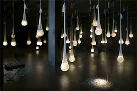 glowing crystals