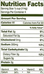 diet coke nutrition label
