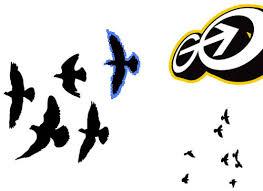 flying bird stencil