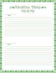 printable diary page