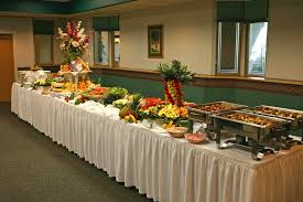 decorating buffet table
