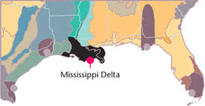 map of the mississippi delta