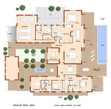 courtyard house plan