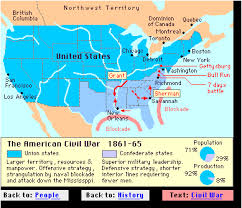 civil war outline map