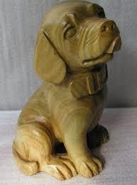 carved wood animal
