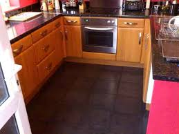 black kitchen floor