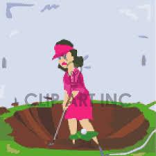 lady golfer clip art
